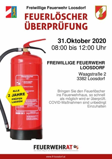 Plakat Feuerlöscherüberprüfung