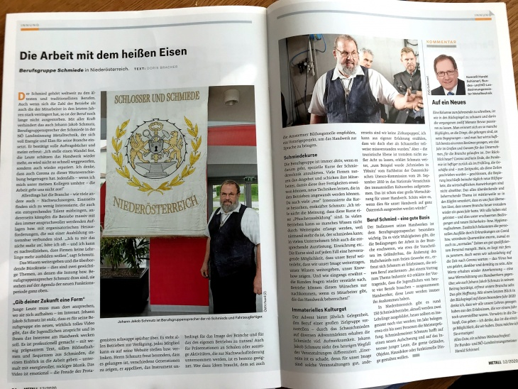 Interview mit Johann Jakob Schmutz / Interview für Magazin Metall