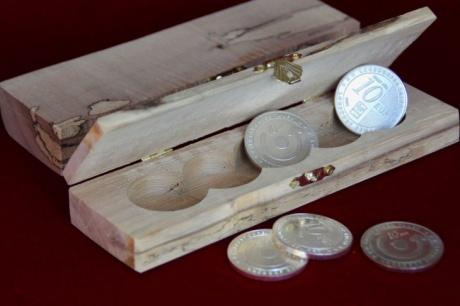 Geschenkbox Loosdorfer Taler Quintett für 5 bis 12 Münzen